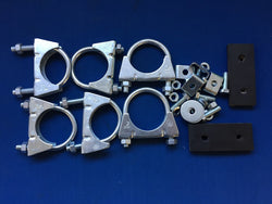 TR5/6 SPORT TWIN EXHAUST SYSTEM FITTING KIT