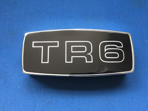 LATE TR6 CR FRONT GRILL BADGE