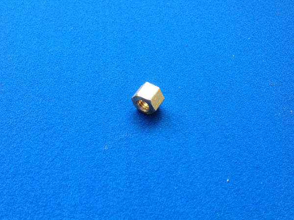 "BRASS EXHAUST MANIFOLD NUT 3/8"" UNF"