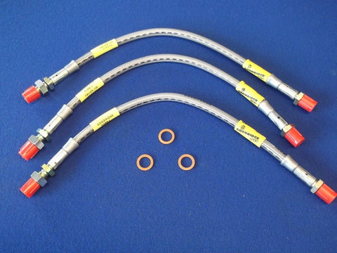 STAINLESS BRAKE HOSE KIT TR3/4 (3 HOSES)