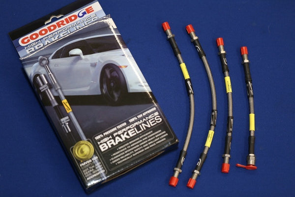 STAINLESS BRAKE HOSE KIT TR4A/5/6 (4 HOSES)