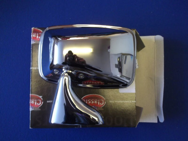 STAINLESS DOOR MIRROR L/H (ORIGINAL TYPE TR6/SPITFIRE)