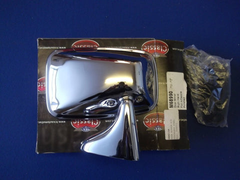 STAINLESS DOOR MIRROR RH (ORIGINAL TYPE LATE TR6/SPITFIRE)