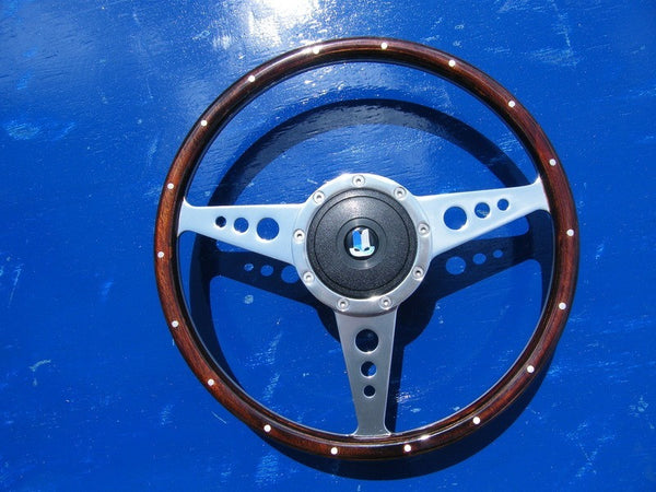 13 INCH WOODEN STEERING WHEEL