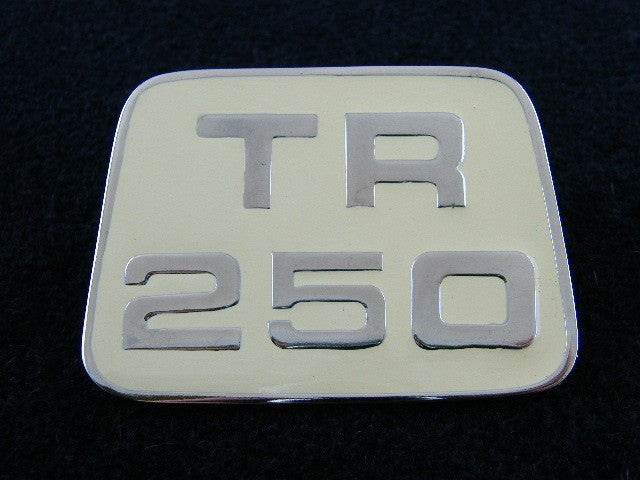 TR250 BONNET BADGE
