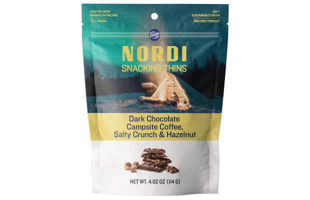 Fazer NORDI Snacking Thins Campsite Coffee, Salty Crunch & Hazelnut 114 g