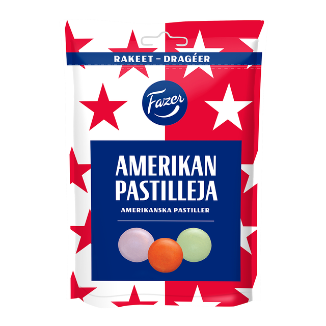 American dragee 175 g - Fazer Candy Store