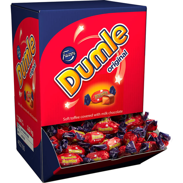 Dumle Chewy Toffee Caramels 3 kg - Fazer Candy Store
