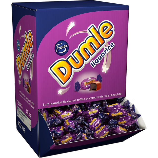 Dumle Liquorice Chewy Toffee Caramels 3 kg - Fazer Store EN