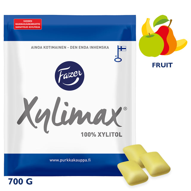 Xylimax Fruit Full Xylitol Chewing Gum 700 g - Fazer Candy Store
