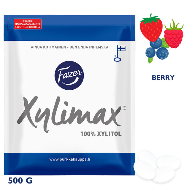 Xylimax Berry Full Xylitol Pastilles 500 g - Fazer Candy Store