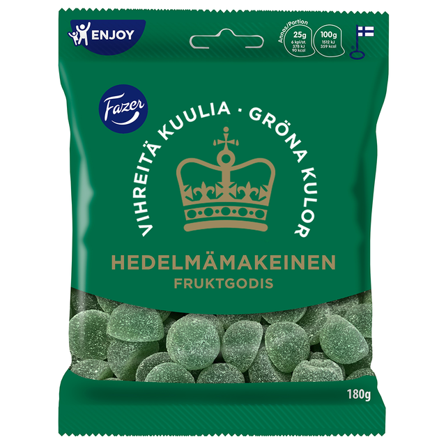 Green jellies fruit candy 180 g