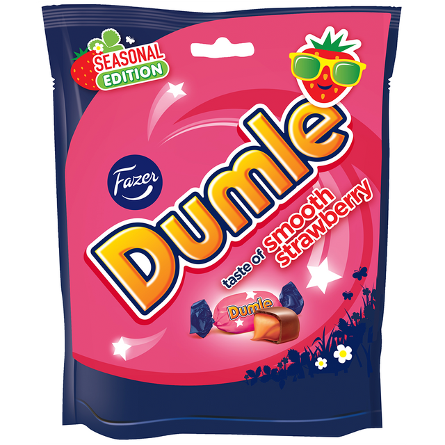 Dumle Seasonal Strawberry 220 g - Fazer Candy Store