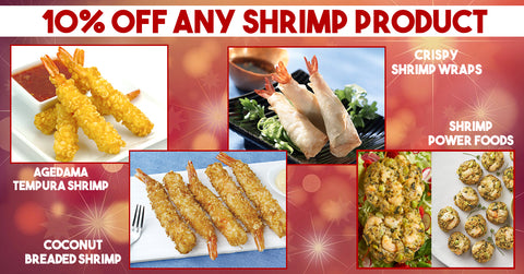 Get 10% OFF any shrimp Item