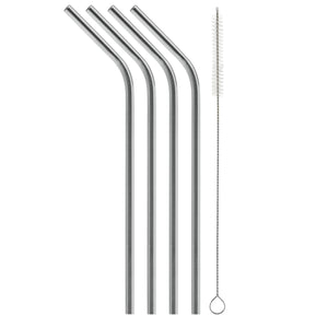 "8.5"" Bent Stainless Steel Straw (4 pack)"