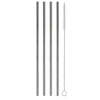 "8.5"" Straight Stainless Steel Straw (4 pack)"