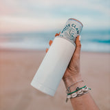 Slim Can Koozie Ice White
