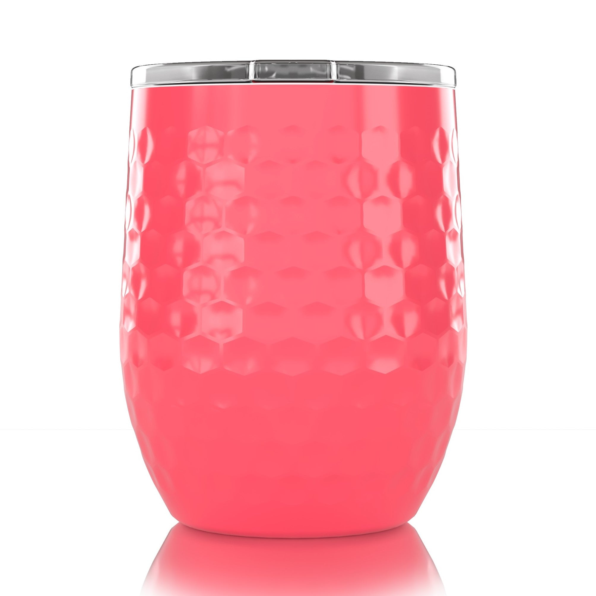 16 oz. Stemless Pink Dimpled Golf®