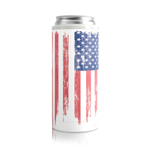 Slim Can Cooler American Flag