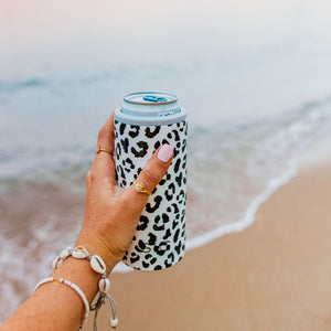 Slim Can Cooler Leopard