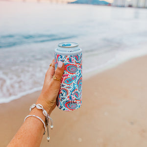 Slim Can Cooler Paisley