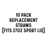 27 Oz. Replacement Straws (10 pack)