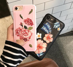 Vintage Embroidery Flower Phone Case