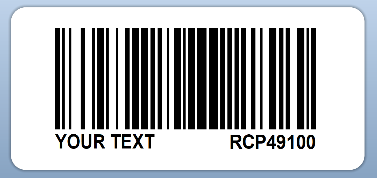 Printed EAN 8 Barcode Labels 76x50mm