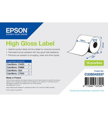 High Gloss Label Roll, Continuous Label (76mm x 33m) For TM-C3500