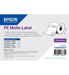 PE Matte Label - Die-cut Fanfold sheets with sprockets (203mm x 152mm) For C831