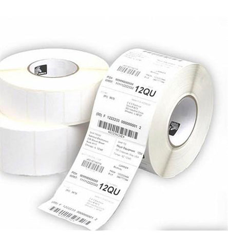 Zebra 3007204-T - Label, Paper, 57x102mm; Thermal Transfer, Z-Select 2000T, Coated, Permanent Adhesive, 25mm Core, Perforation