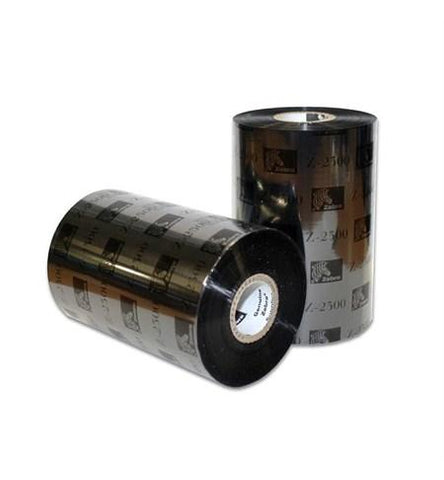 Zebra 03200GS11007 - Wax/Resin Ribbon, 110mmx74m (4.33inx242ft), 3200; High Performance, 12mm (0.5in) core, 12/box