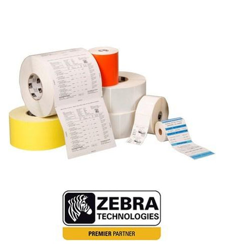 Zebra 3006296 - Label, Polyester, 101.6x50.8mm; Thermal Transfer, Z-Ultimate 3000T White, Permanent Adhesive, 19mm Core, Perforation and Black Mark