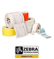 Zebra 880374-019 - Label, Polyester, 57x19mm; Thermal Transfer, Z-Ultimate 3000T Silver, Permanent Adhesive, 76mm Core