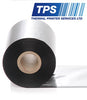 Image of TPS Premium Wax Thermal Transfer Ribbon 110mm x 74m For Zebra Desktop Printers