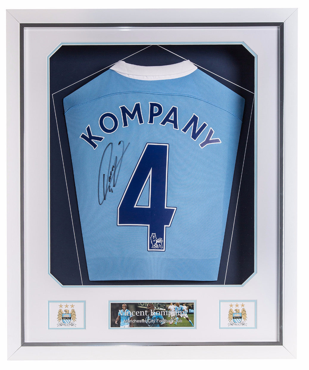 Vincent Kompany Signed Manchester City 2015/16 Shirt - Premium Framed