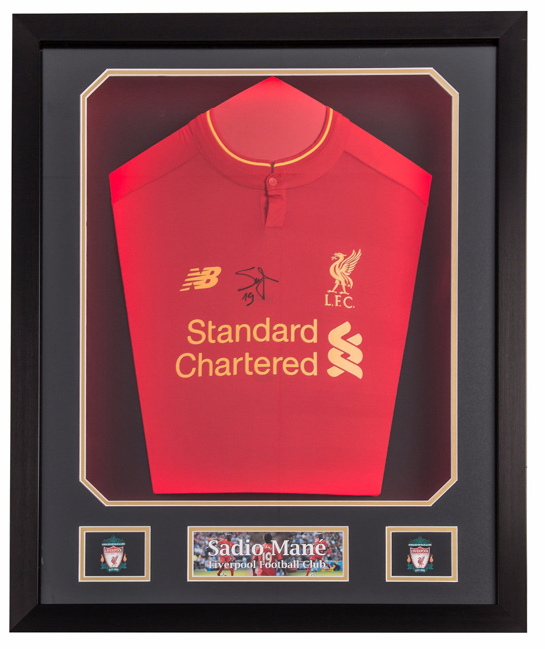 Sadio Mané Signed Liverpool 2015/16 Shirt - Premium Framed
