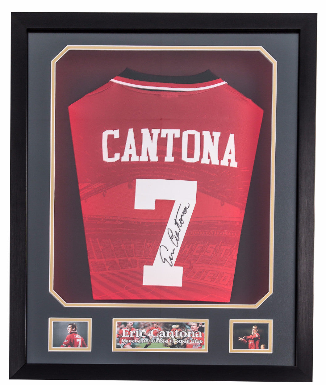 Eric Cantona Signed Manchester United Home Shirt - Premium Framed