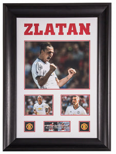 Zlatan Ibrahimović Signed Manchester United 2016/17 Away Canvas - Premium Framed