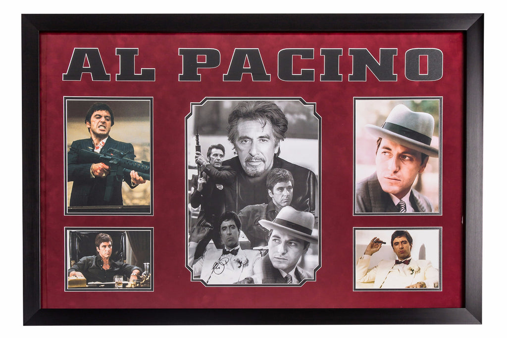 Al Pacino Hand Signed Movie Montage - Premium Framed