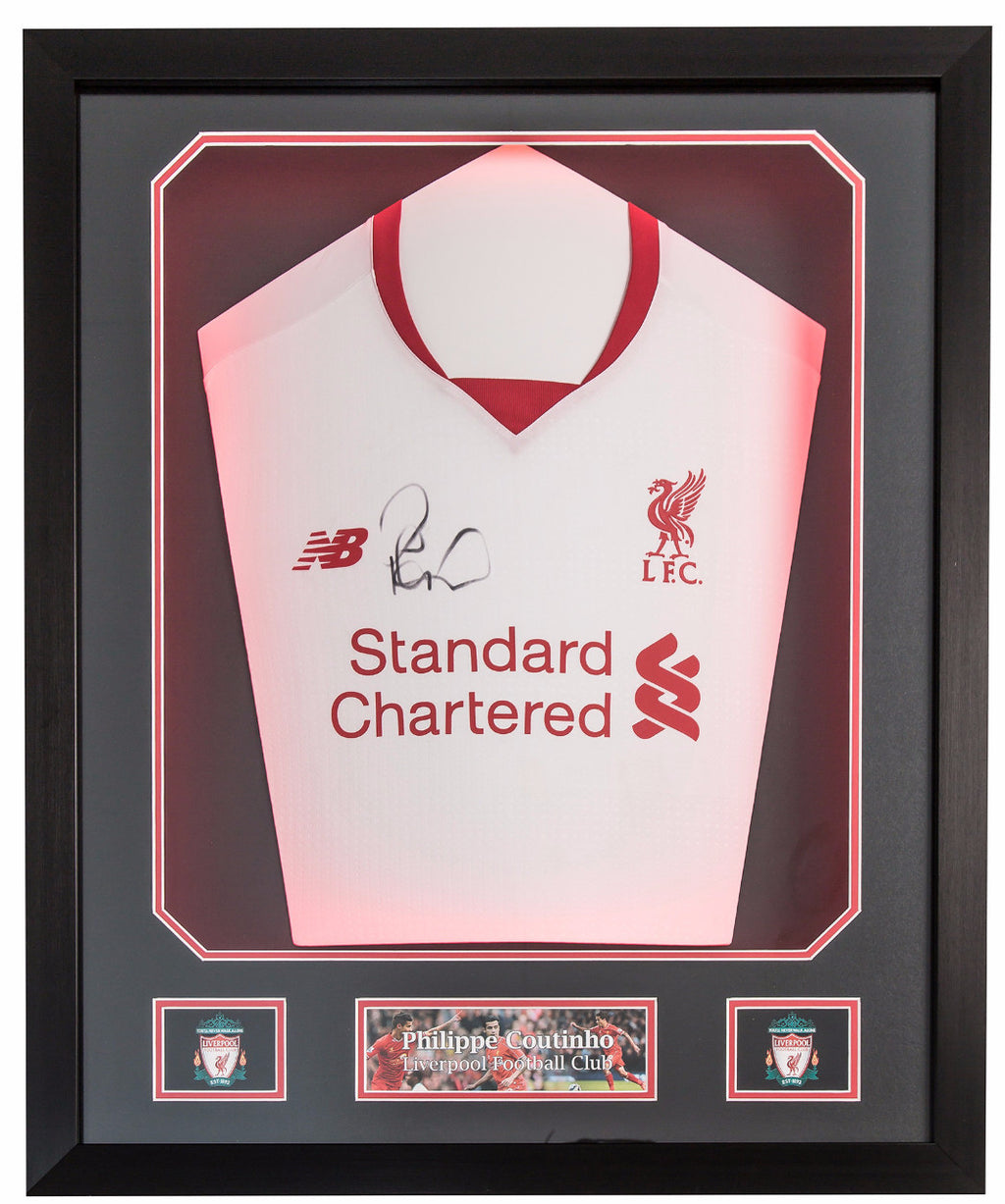 Philippe Coutinho Signed Liverpool 2015/16 Shirt - Premium Framed
