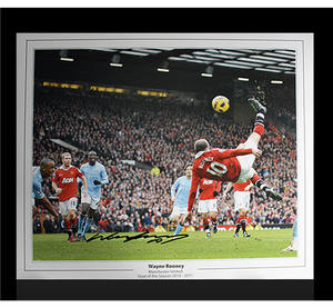 Framed Wayne Rooney Signed Photograph - Overhead Kick