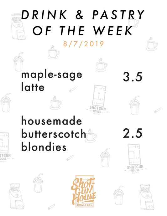 Introducing our Drink and Pastry of the Week!