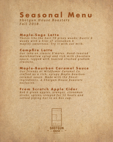 Our Fall Drink Menu is available now!