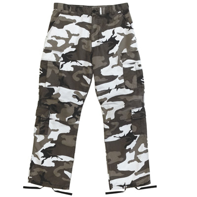White / Grey / Green Urban  Camouflage Trousers