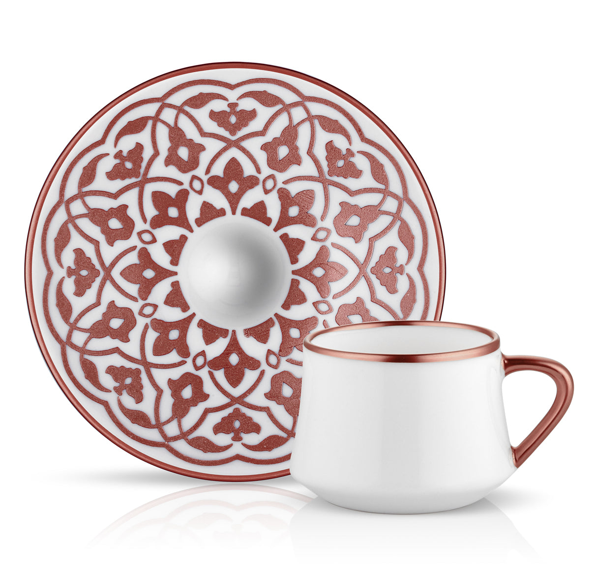 Sufi Tulip Rose Turkish Coffee Set - Set of 2