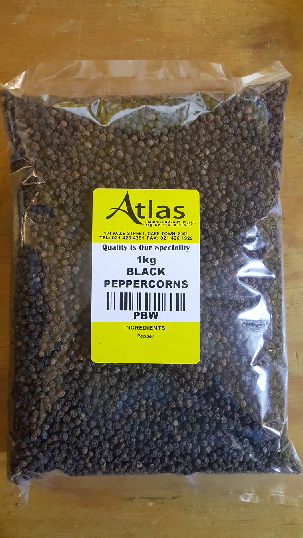 Whole Black Peppercorns