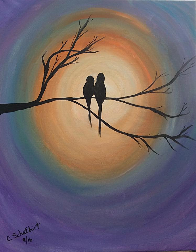 Workshop:  Painting Love Birds
