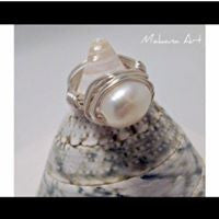 Ruth Natural Pearl Ring -  pearl - engagement - wedding - personalized - jewelry