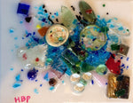 "Workshop:  Hand Blown Glass Art on Canvas - CHILD small 8"" x 10"" x 1/2"" canvas"